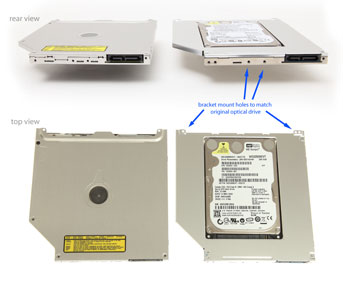 2nd HDD/SSD Caddy to replace Macbook Unibody superdrive /optical