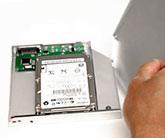 Optical Bay Hard Drive Einbaurahmen (OptiBayHD™ Kit) mit optionaler Festplatte oder SSD