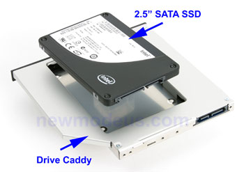 2nd HDD / SSD Caddy for Compaq CQ50, CQ60, CQ61, CQ70, CQ71#