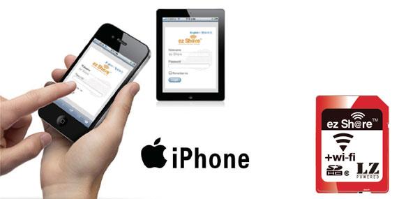 ez Share SD Flashspeicherkarte mit integriertem WLAN - Unterstützung von Apple Produkten