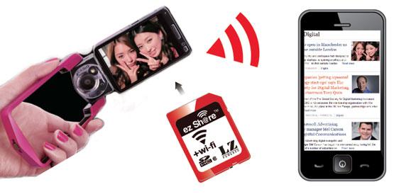 ez Share SD Flashspeicherkarte mit integriertem WLAN - schnelles posten in Soziale netzwerke