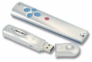 Fernbedienung und USB-Stick in einer Kombination