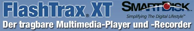 FlashTrax XT Recorder + Player für Video, Audio, Foto, Daten