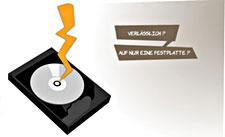 Verlässt man sich auf nur eine Festplatte oder ein einziges Band, ist die Gefahr gross, alle Daten zu verlieren