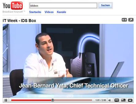 Video über die IDSbox auf der StorageExpo. Anklicken zum Start.