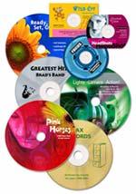 Professionell gestaltete CDs und DVDs. Mit Primera DiscPublisher Systemen für jedermann kein Problem uach bei kleinen Auflagen