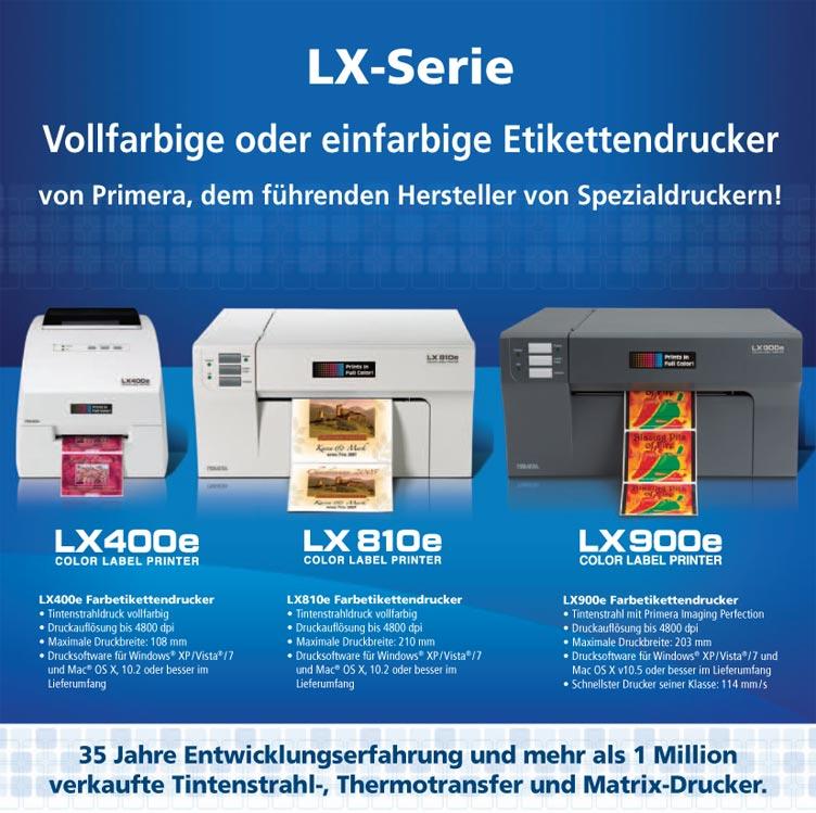 Primera LX Serie Vollfarbige oder einfarbige Etikettendrucker