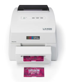 LX400 Farb-Labeldrucker mit optionalem Cutter