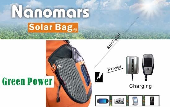 Solar Bags - Rucksäck und Taschen mit integriertem Solar-Panel