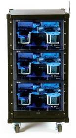 RoadCase mit 3 DiscPublisher XRP und Server XR für schnellste Kopie und Druck von CD/DVD während Veranstaltungen